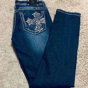 Miss me straight leg jeans.  Embellished cross